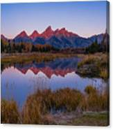 The Grand Tetons From Schwabacher's Landing Canvas Print