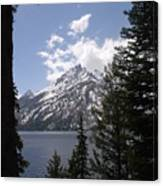 The Grand Tetons Lake Canvas Print