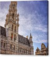 The Grandeur Of The Grand Place Brussels  Canvas Print