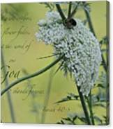 The Grass Withers Canvas Print