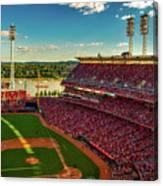 The Great American Ball Park - Cincinnati Canvas Print