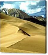 The Great Colorado Sand Dunes Color Print Canvas Print