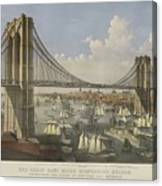 The Great East River Suspension Bridge Canvas Print