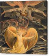 The Great Red Dragon And The Woman Clothed With The Sun Canvas Print