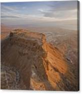 The Great Refuge Of Masada Looms Canvas Print