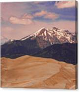 The Great Sand Dunes And Sangre De Cristo Mountains Canvas Print