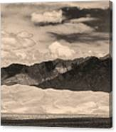 The Great Sand Dunes Panorama 2 Sepia Canvas Print