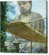 The Great Statue Of Amida Buddha At Kamakura Canvas Print