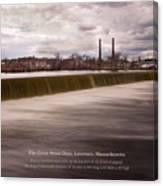 The Great Stone Dam Lawrence, Massachusetts Canvas Print