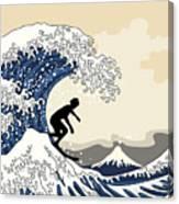 The Great Surfer Off Kanagawa Canvas Print