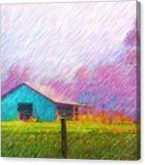 The Green Barn Canvas Print