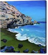 The Green Beach The Big Island Hawaii Canvas Print