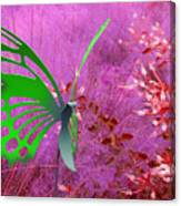 The Green Butterfly Canvas Print