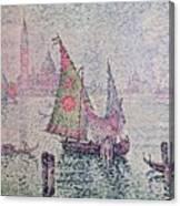 The Green Sail Canvas Print