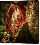 The Gristmill's Waterwheel Canvas Print