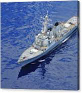 the guided-missile destroyer USS Okane Canvas Print