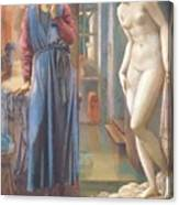 The Hand Refrains 2nd Series Pygmalion 1878 Canvas Print