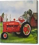 The Hansen Tractor Canvas Print