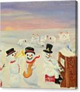 The Happy Snowman Band Canvas Print