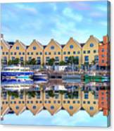 The Harbor At Galway Canvas Print