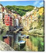 The Harbor At Rio Maggiore Canvas Print