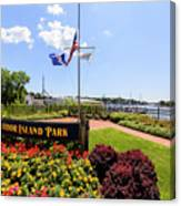 The Harbor Island Park In Mamarineck, Westchester County Canvas Print
