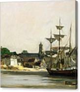 The Harbour At Honfleur Canvas Print