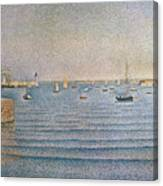 The Harbour At Portrieux Canvas Print