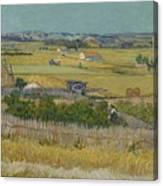 The Harvest Arles  June 1888 Vincent Van Gogh 1853  1890 Canvas Print