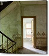 The Haunted Staircase - Abandoned Building Canvas Print