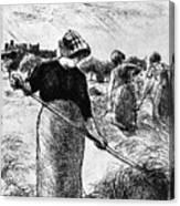 The Hayymaker Camille Pissarro Canvas Print
