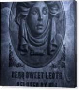 The Headstone Of Madame Leota Canvas Print