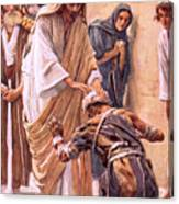 The Healing Of The Leper Canvas Print