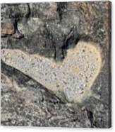 The Heart In Stone Canvas Print