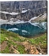 The Heart Of Many Glacier Canvas Print