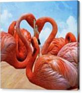 The Heart Of The Flamingos Canvas Print