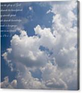 The Heavens Declare The Glory Of God Canvas Print
