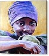 The Hidden Smile Canvas Print
