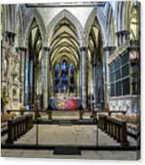The High Altar In Salisbury Cathedral Canvas Print