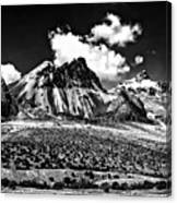 The High Andes Monochrome Canvas Print