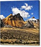 The High Andes Painted Version Canvas Print