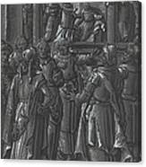 The High Priest Before Pilate [verso] Canvas Print