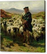 The Highland Shepherd Canvas Print