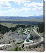 The Highway And The River Canvas Print
