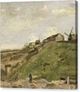 The Hill Of Montmartre With Stone Quarry 2 Canvas Print