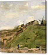 The Hill Of Montmartre With Stone Quarry Canvas Print