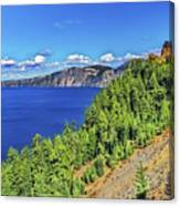 The Hills Of Crater Lake Oregon Canvas Print