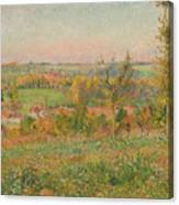 The Hills Of Thierceville Seen From The Country Lane Canvas Print