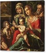 The Holy Family With Saint Anne And Saint John Canvas Print