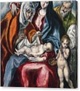 The Holy Family With Saint Anne And The Infant John The Baptist Canvas Print